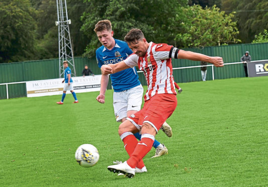 Stuart Anderson in action for Formartine.