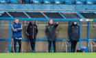 Jim McInally on the Balmoor touchline.  Picture by Scott Baxter