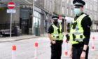 Darren Gibbs and Marc Davidson on Rosemount Place, Aberdeen. Picture by Jim Irvine.