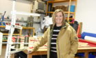 Pictured is Susan Griffiths, who designs the clothing at Hilltrek Outdoor Clothing.