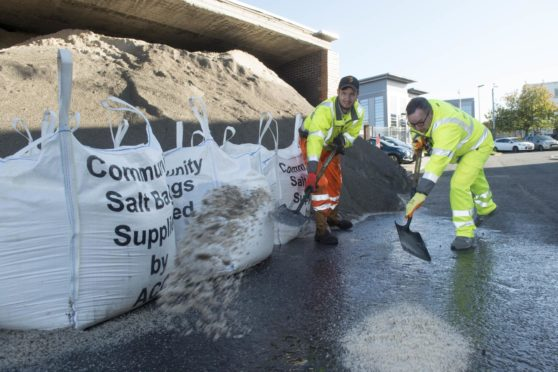 Residents can now apply for a community salt bag