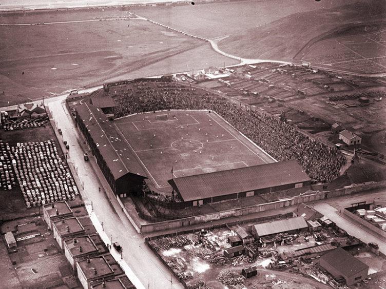 Pittodrie Stadium in 1952.
