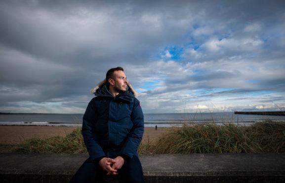 Andy Considine at Aberdeen beach.