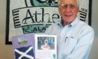 Athens mayor Ronnie Marks with the gifts from Stonehaven