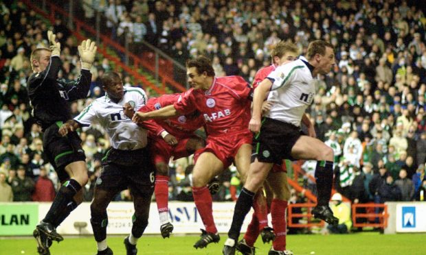 Aberdeen beat Celtic 2-0 at Pittodrie on December 22, 2001.
