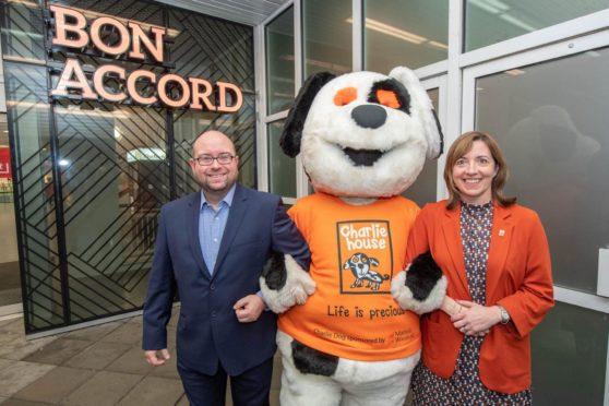 Bon Accord manager Craig Stevenson and director of fundraising at Charlie House Susan Crighton