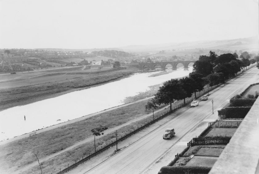 The Bridge of Don from Ruthrieston School in 1959.