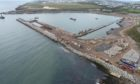 The harbour expansion has been delayed because of Covid-19