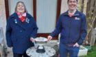Denise Patterson, RLSS Scottish northern branch chair, presenting the Stanley Peck trophy to Graham Dutton