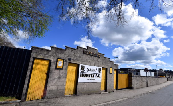 Christie Park, Huntly, will now host the culmination of last season's Highland League Cup matches.  Picture by Chris Sumner