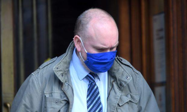 Anthony McHardie leaving court.