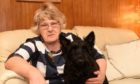 Wilma Donald with her dog Chance