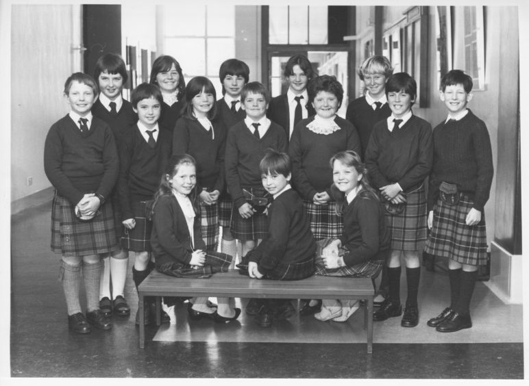 1986: Looking a picture in their Highland dress are members of the Crathie Primary School Choir who came second in the Primary Scots song event in Powis Academy.