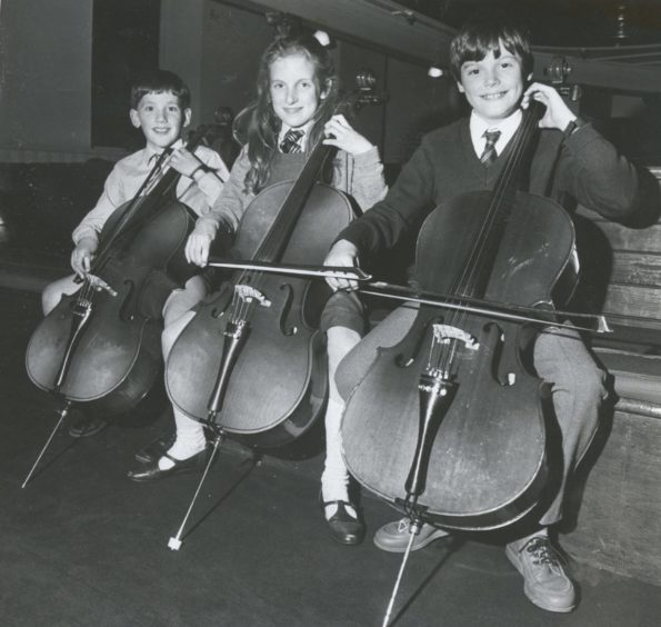 1986: The three contestants in the Cello (9 and under) were, from left, Ross Forno, Westhill Primary, Claire Babington, of St Peter's and Kenneth McLaren, Milltimber. Kenneth was first and Ross and Claire were placed second equal.