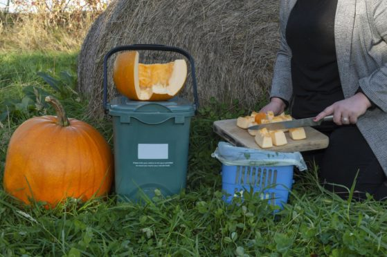 Aberdeenshire Council is urging residents to recycle their pumpkins