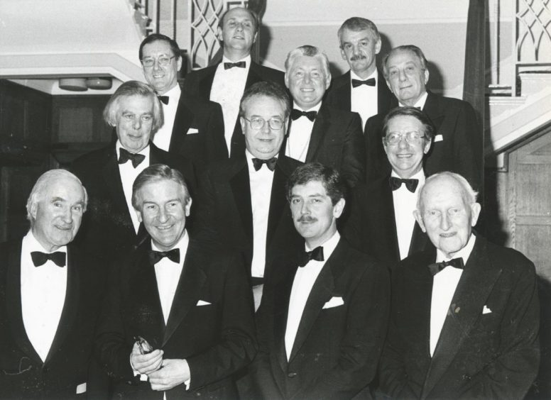 1988: VIPs line-up at the Founder's Day dinner held last night in the Rowett Institute's Strathcona Hall.