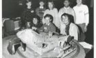 1986: Members of the Stocket Computer Club, Aberdeen, show off their Spectrum-controlled trains at the science fair in the Music Hall. Back (from left): Euan Webster, Peter Drysdale, Victoria Gooday, Roy Koruth and Fraser Mitchell. Front: Inga Bruce, Graeme Fraser and Meg Bruce.