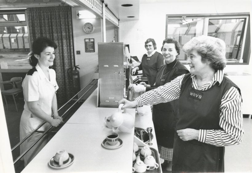 1989: A nurse takes a welcome break at the new Woodend Hospital cafeteria.