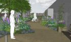 An artist's impression of the garden