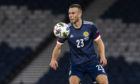 Andy Considine in action for Scotland on his international debut