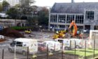 Work has now begun on the new nursery at Gilcomstoun Primary School. Picture by Jim Irvine