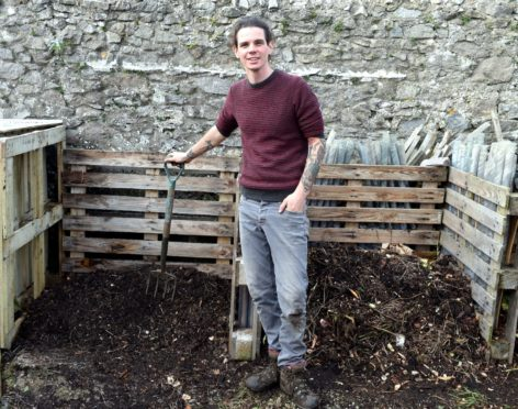 John Sergison has spent lockdown transforming an overgrown piece of land into a community garden