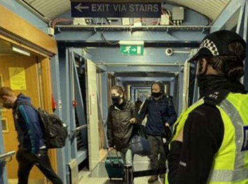 Police have been involved in a week-long crackdown on ferries