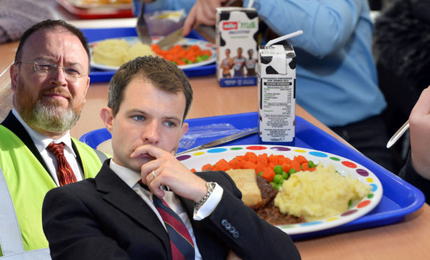 David Duguid and Andrew Bowie voted against a motion to give free school meals to children