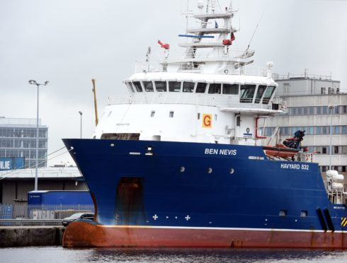 Ben Nevis at the harbour, Aberdeen.