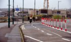 The temporary cycle lanes at Aberdeen beach will be removed