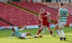 Sam Cosgrove in action against Celtic.