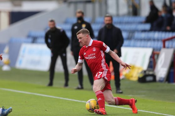 Jonny Hayes during the win over Ross County.