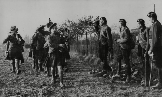 The Gordon Highlanders in France during World War Two.