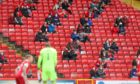 Fans at a test event held at Pittodrie last September when Aberdeen hosted Kilmarnock.