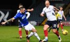 Scott Ross in action against Dundee in the Betfred Cup.