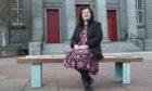Debra Kirkness outside Aberdeen Arts Centre.