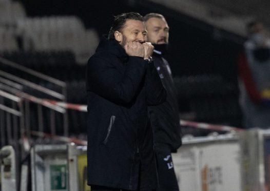 Derek McInnes during the Betfred Cup match between St Mirren and Aberdeen.