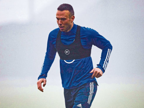 Andy Considine in training with Scotland yesterday.