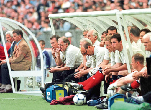 Scotland boss Craig Brown watches on during the opening game of the France 1998 World Cup against Brazil.
