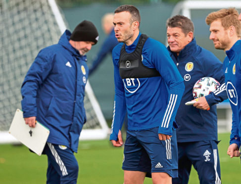 Andy Considine during Scotland training at Oriam.