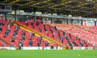 Aberdeen supporters at Pittodrie for September's test event.