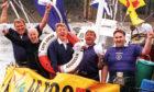 Gordon Murray, Danny Couper, George Hosie, Ally Gunn and Bob Craig set sail for France 98