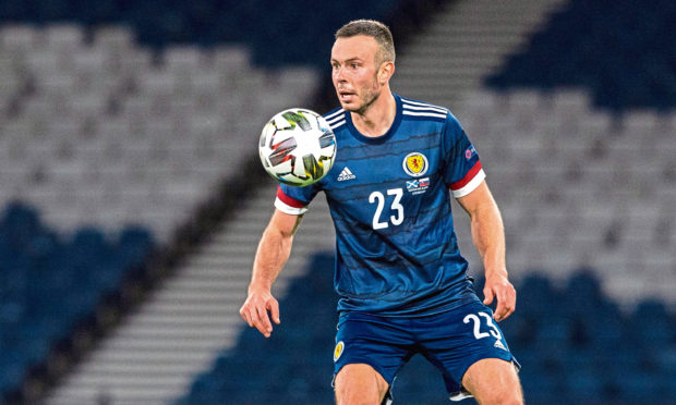 Andy Considine, of Aberdeen, in action for Scotland.
