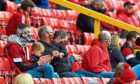 Fans at Pittodrie for September's test event.
