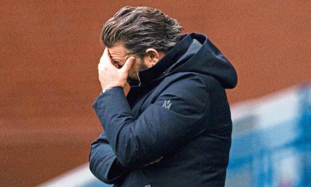 Derek McInnes at Ibrox in the 4-0 defeat this season