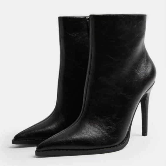 Topshop   HONEY Black Point Boots, £39.99