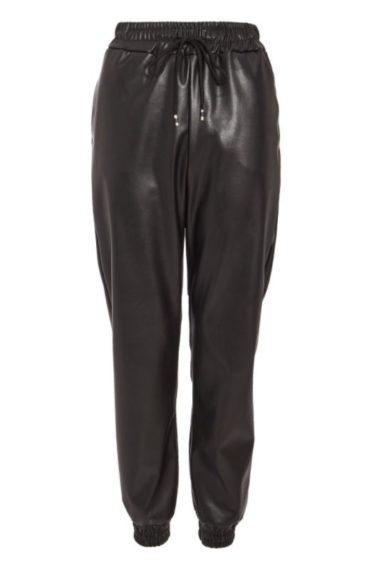 Quiz   Black Faux Leather Trousers, £24.99