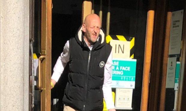 Andrew Jones leaving court following an earlier hearing.