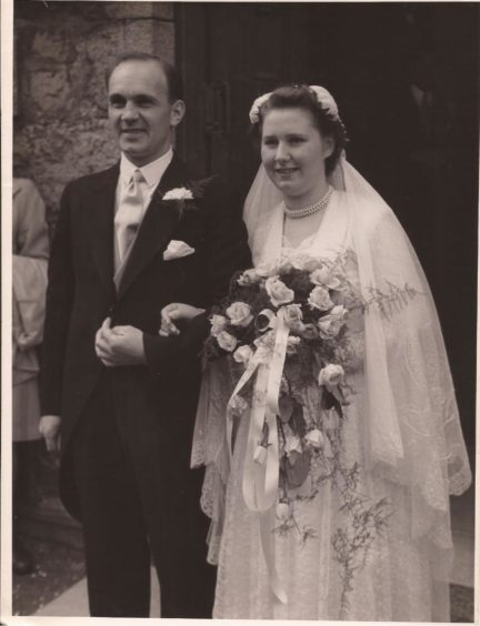 Bill and Billie Hilton on their wedding day.