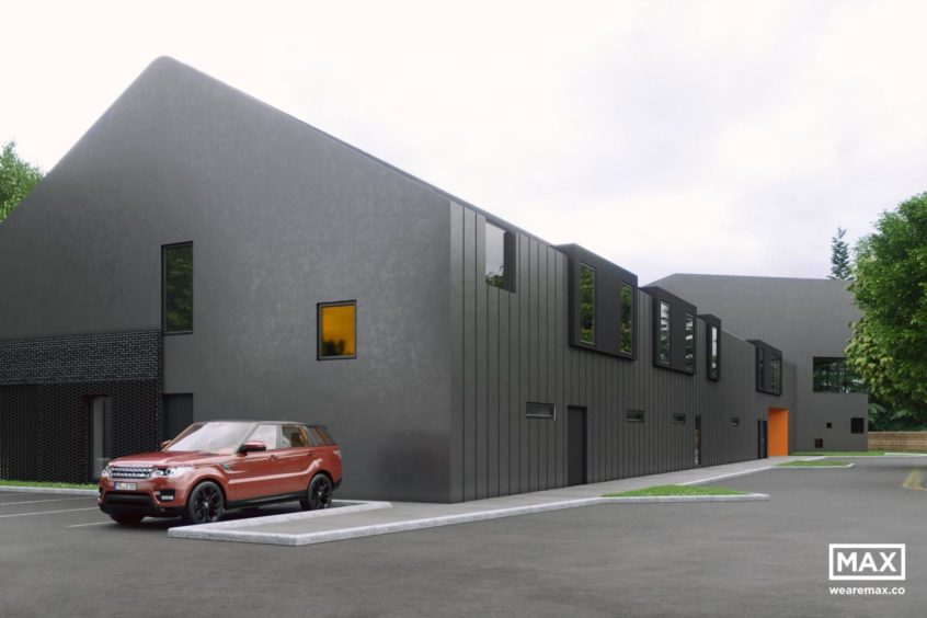 Artists impressions of Charlie House's new specialist-support centre. Aberdeen. Credit to: Max.